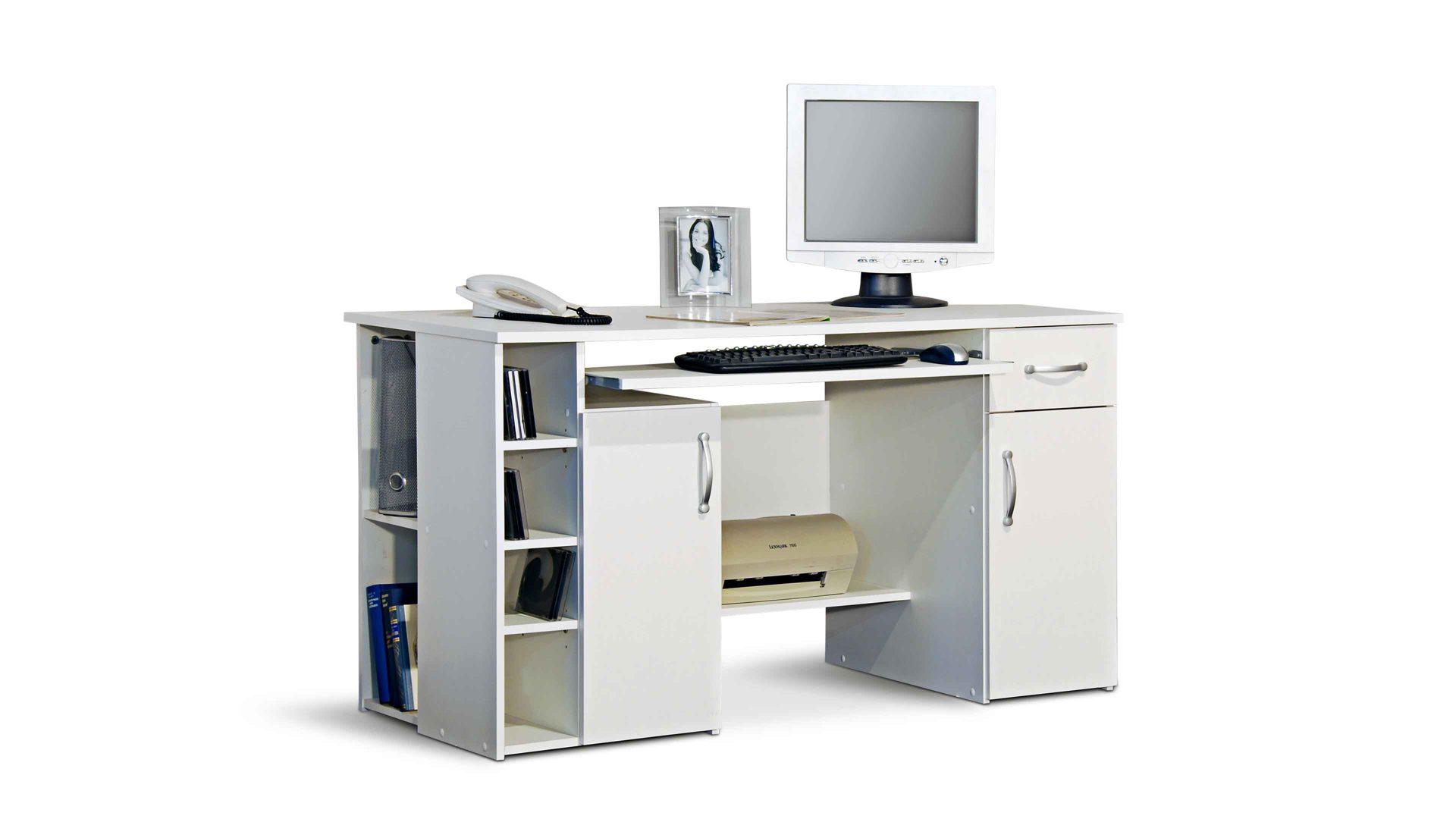 Computertisch Und Schreibtisch Vereint Fr Funktionelle Bro Einrichtungen